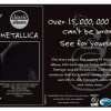 Metallica press advert (Eagle Rock Entertainment 2001)
